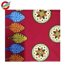 Wholesale pur polyester véritable tissu tissé de cire africaine