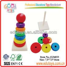 Rainbow Wooden Mini Stacker Pädagogische Spielzeug Spiele
