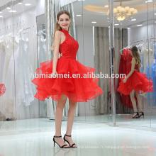 Charmante femmes courte robe de mariée rouge royal 2016 soirée