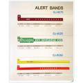 bandas descartáveis do ID das faixas do alerta da fita da identificação do hospital