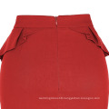 Grace Karin Women's High Stretchy Hips-Wrapped Vintage Retro Red Pencil Skirt CL010454-2