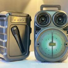 KMS-3381 Speaker Outdoor Portable Trolley Speaker DJ Speaker System Subwoofer Sound Box With LED Light