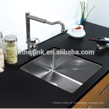 Pia de cozinha de aço inoxidável pequena do agregado familiar do raio 25 ou dissipador comercial