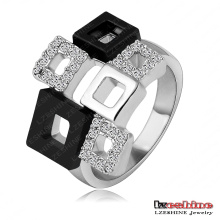 Austrian Crystal Swa Element Square Ring (Ri-HQ1114-B)