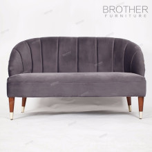 Высокая спинка комфортные двух-местный мягкие стулья гостиной
