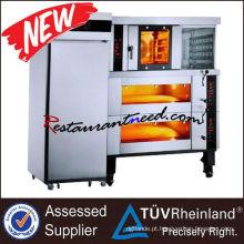 K137 Forno de convecção elétrico de 4 bandejas e forno de convés de 4 bandejas e combinação de refrigeração elétrica com congelador de 16 bandejas