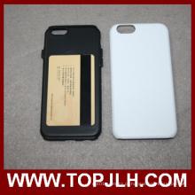 3D PC + duplo protegido caso sublimação telefone TPU para iPhone 6 Plus