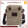 Canvas Leather Messenger Bag Fashion Contracted Mens Messenger Bag