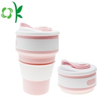 Silikon Foldable Travel Drinking Cup Retractable