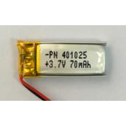 70mAh lithium-polymeerbatterij voor Bluetooth-horloge (LP1X2T4)