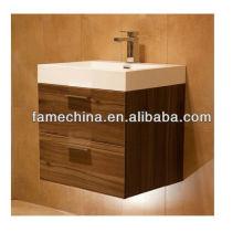 modern dark cherry wood bathroom vanity cabinet