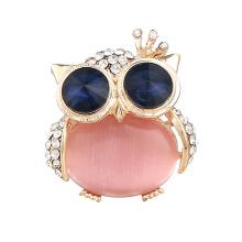 Superstarer Cartoon Opal Crown Owl Custom Cardigan Pin Brooch