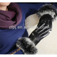 fur cuff winter gloves leather glove