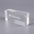 Anpassade Solid Clear Acrylic Display Blocks