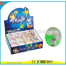 Игрушки горячие продаем детские 65мм бусины мигающий светодиодный свет вверх надувной мяч воды