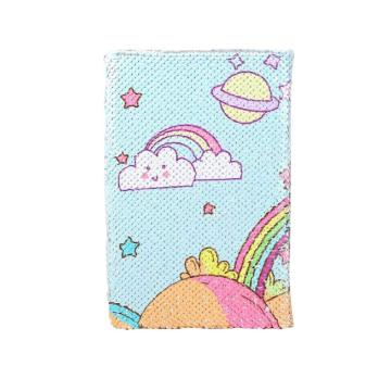 SEQUIN RAINBOW REVERSIBLE NOTEBOOK-0