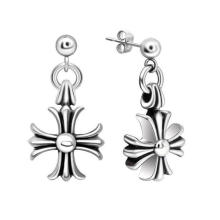 Men Cross Earrings Gothic Accessories Titanium Steel Eardrop