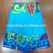 Venta al por mayor de tela de impresión de cera africana tela de algodón de impresión personalizada cera 100% algodón verdadero