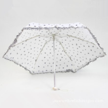5 Fold Super Mini Umbrella with Lace Edge