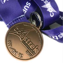 Medalla de aleación de zinc de calidad de bronce antiguo de metal personalizado