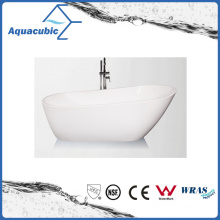 Bathroom Oval Free-Standing Acrylic Bathtub (AB1519W)