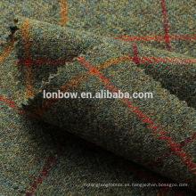 Tweed lana pura tela-lana tejido tweed estilo tejido patrón de cuadros coser para el abrigo, pantalones cabo artesanal por el patio