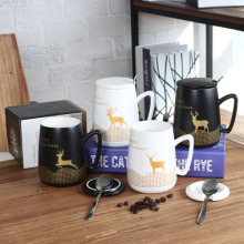 Stoneware deer coffee mug
