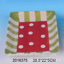 Caliente-vendiendo la placa de la dolomía de la aduana de los artículos de regalo del vajilla de la mancha, placa de cerámica