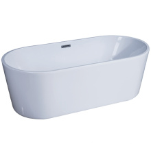 "66"" X 31.5"" Oval Freestanding Bath with Fluted Shroud and Center Drain Bath"