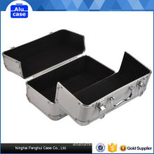 100% factory directly aluminum trolley beauty case with three folding trays