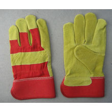 Pig Split Leather Full Palm Work Glove--3593