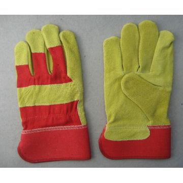 Pig Split Leather Full Palm Work Glove--3593