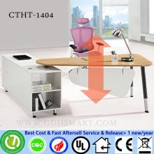 fabricantes de bancadas de contador de mesa de canto de mesa ajustável de altura de parafuso manual