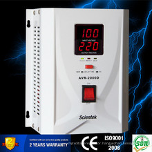 AVR Relay Type Meter Display AC Automatic Voltage Stabilizer 1500VA 900W
