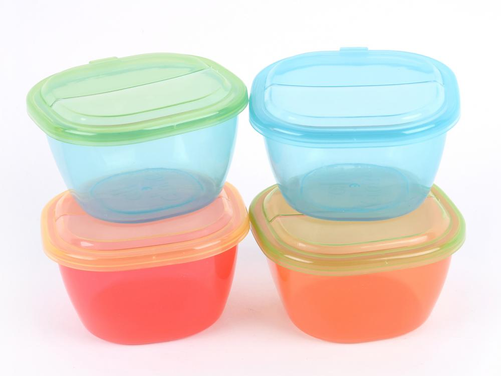 4PCS Transparent Baby Food Containers set