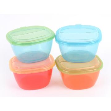 Ensemble de contenants pour aliments bébé Transparent 4pcs