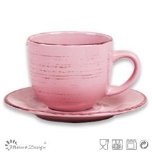 Tasse en céramique de 8oz et fabrication de soucoupe vente chaude