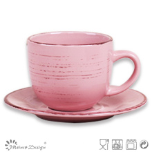 8oz Ceramic Cup and Saucer Manufacture Hot Selling