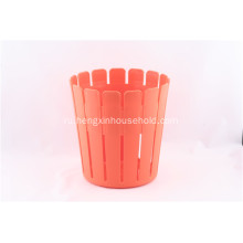 Plastic Wood Line Basket Trash Can