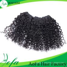 Prix de gros cheveux humains vierge remy extension de cheveux
