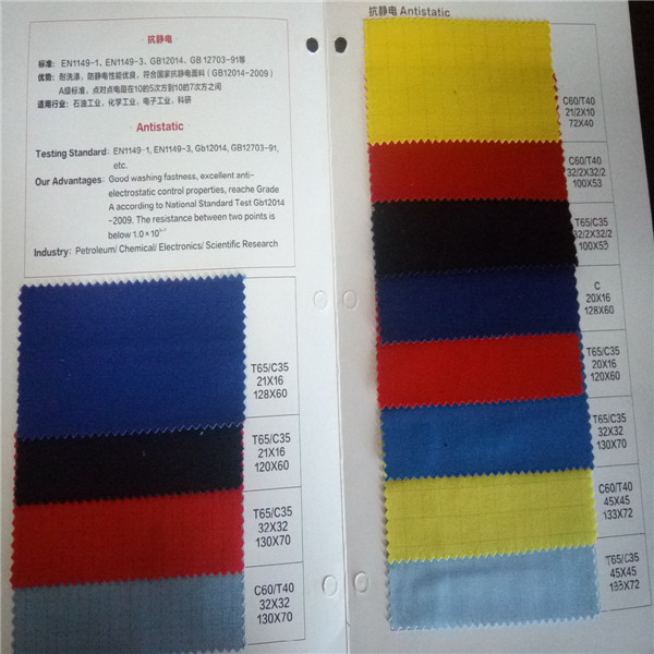 t/c 65/35 antistatic fabric