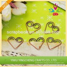 Hear shape cute stationery clip