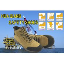 Новый дизайн верхний слой нубука кожи безопасности Открытый обувь (HQ09003)