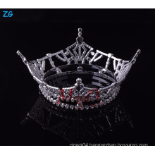 Wholesale Yiwu Zhanggong girls crystal hair accessories full round pageant crowns