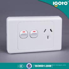 Enchufe de Powerpoint único estándar de Australia con interruptor adicional SAA aprobado