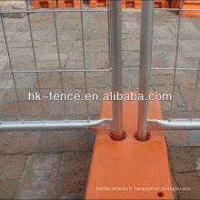 Panneaux provisoires démontables galvanisés plongés chauds de barrière de construction chaude de vente avec la porte piétonnière