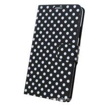 Polka-dot leather folio cardholder case for Samsung Galaxy S5/9600, manufacturer