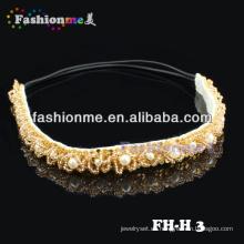 Fashionme schöne Perlen elastisches Stirnband