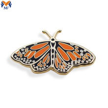 Custom butterfly pin brooch pin with backing