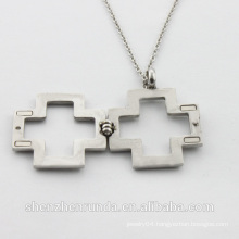 New arrival hot sale on-off stainless steel diamond sweater pendant